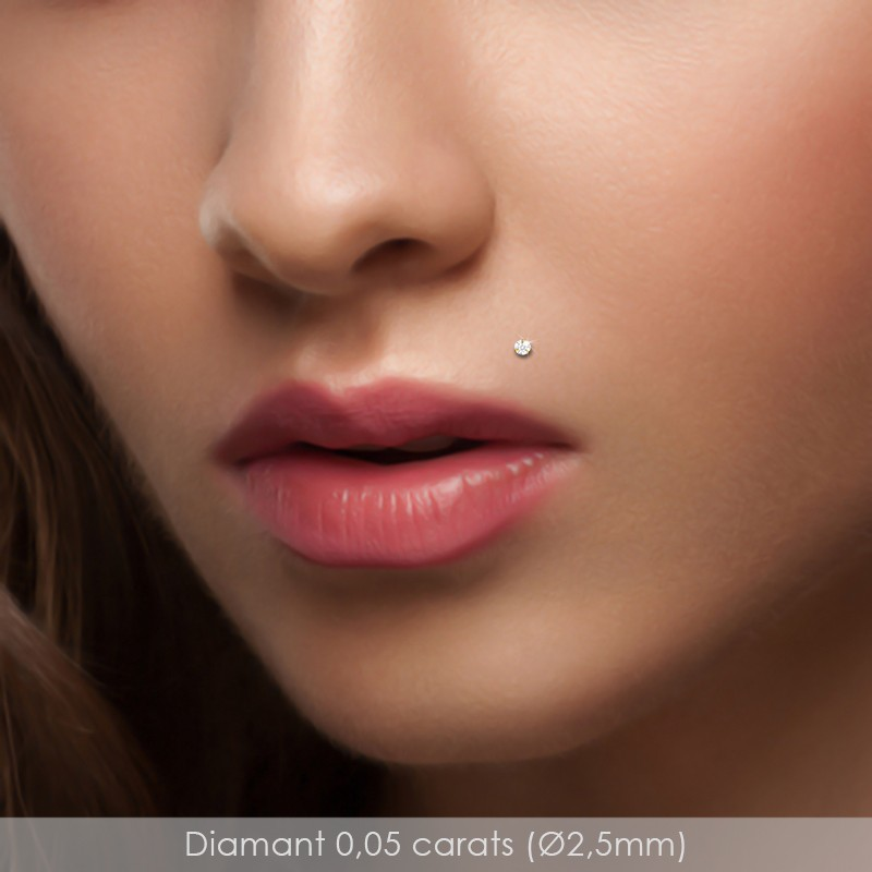Piercing monroe diamant et or jaune