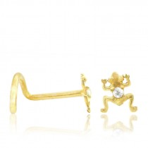 Piercing nez or jaune grenouille