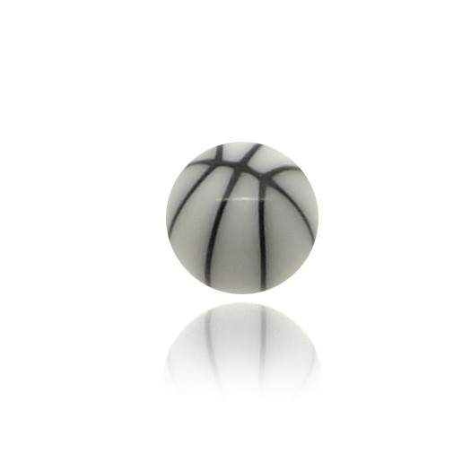 Piercing boule platique basket