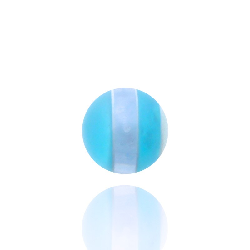 Piercing boule turquoise