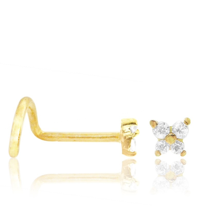 Piercing nez or jaune papillon