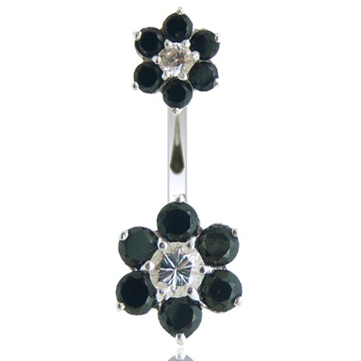 Piercing nombril double fleur