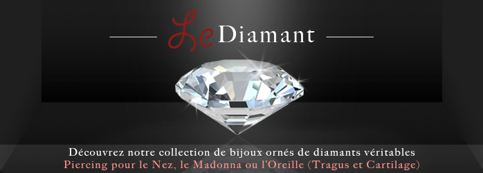 vente piercing labret diamant or argent pour le madonna. Black Bedroom Furniture Sets. Home Design Ideas